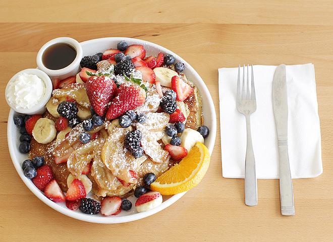 Hearty breakfast option at Kaila cafe.